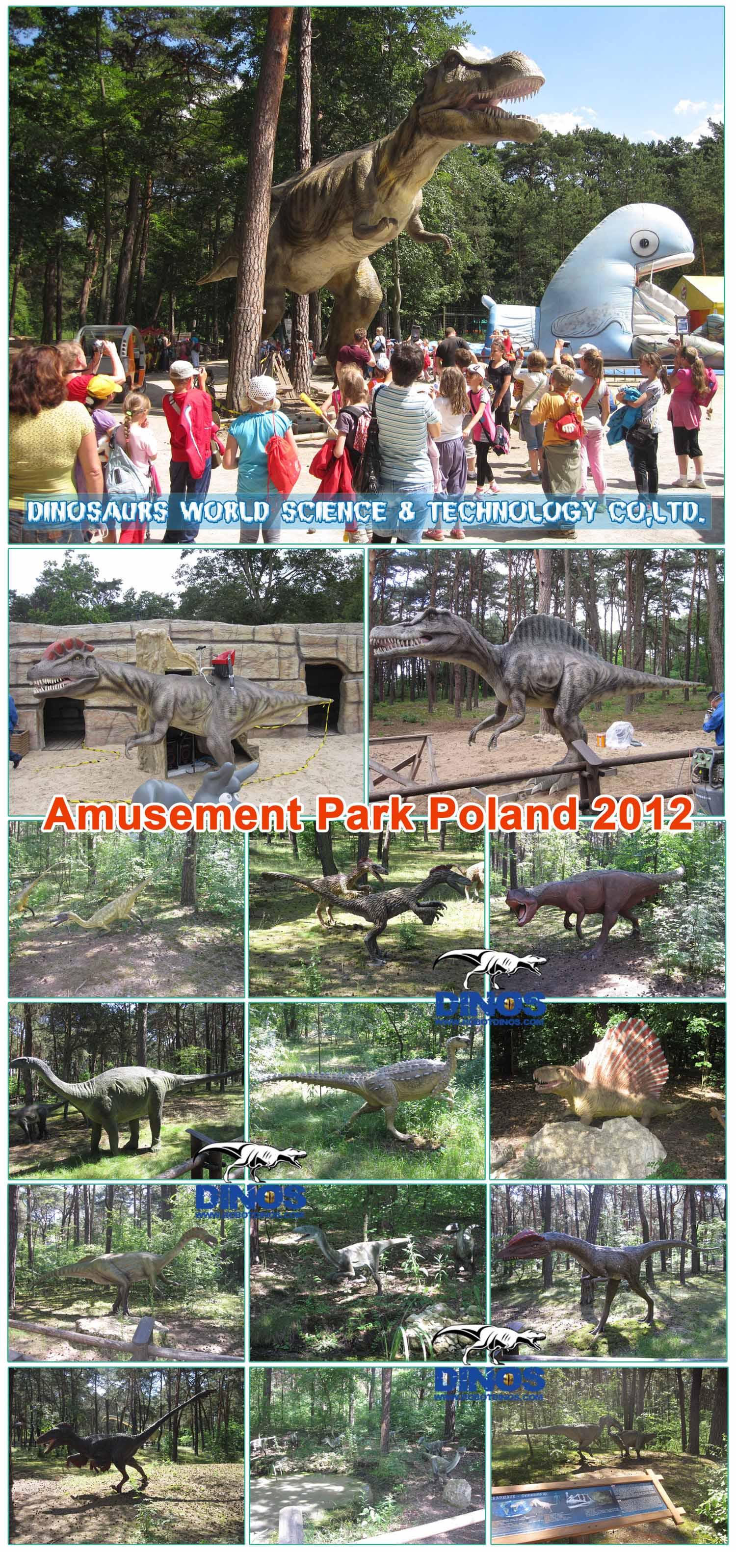 amusement park dinosaurs Poland 2012