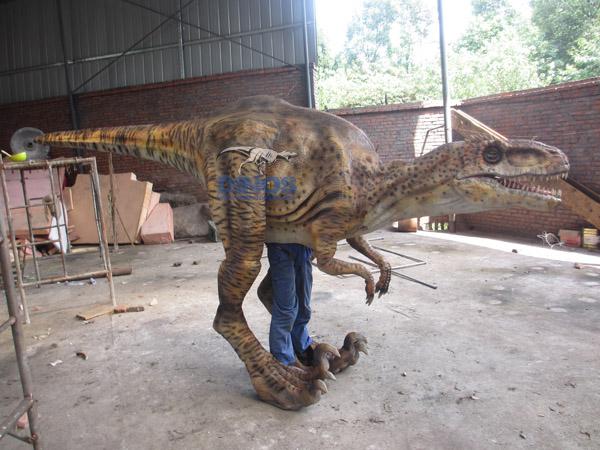 dinosaur costume , walking with dinosaur costume , walking dinosaur