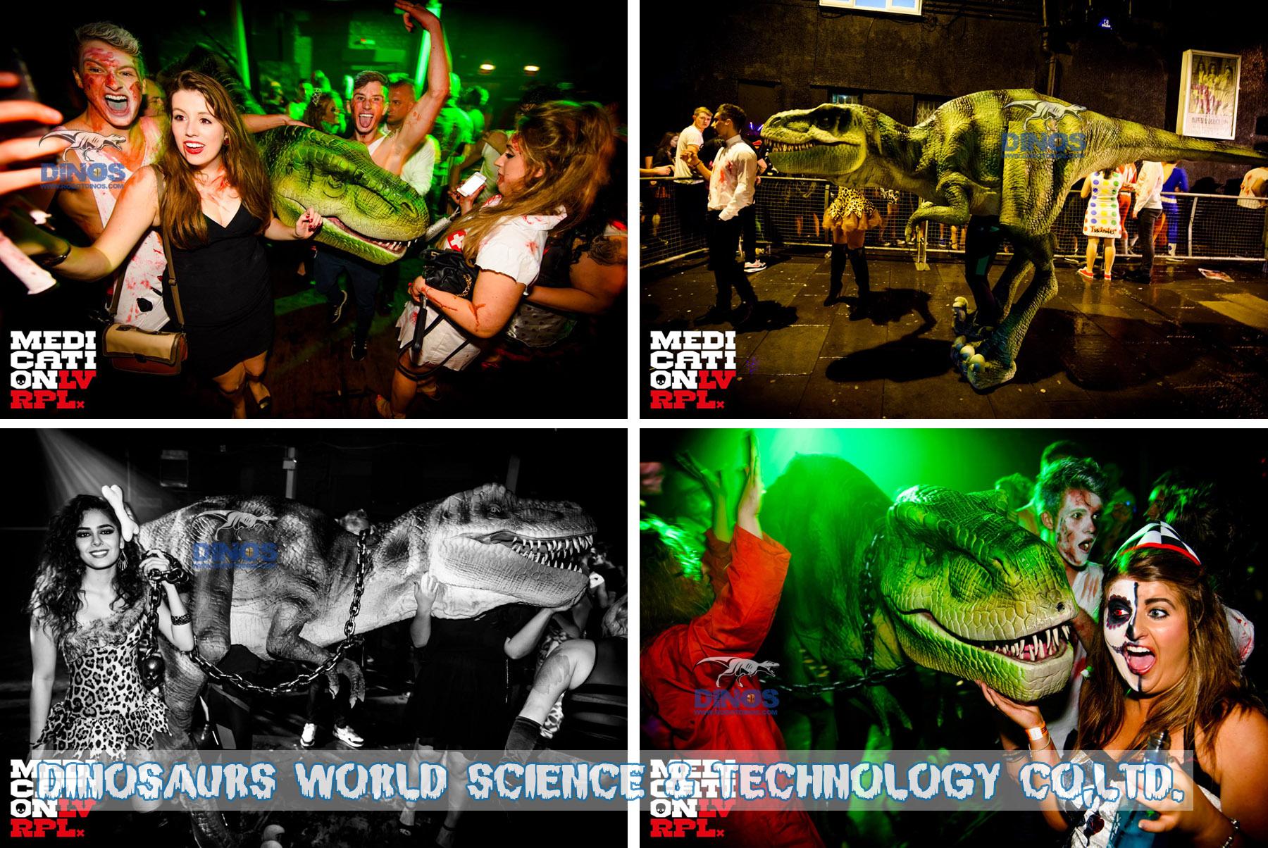 dinosaur puppet,dinosaur costume,walking with dinosaur costume,man made dinosaur
