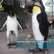Animatronic Penguin Family