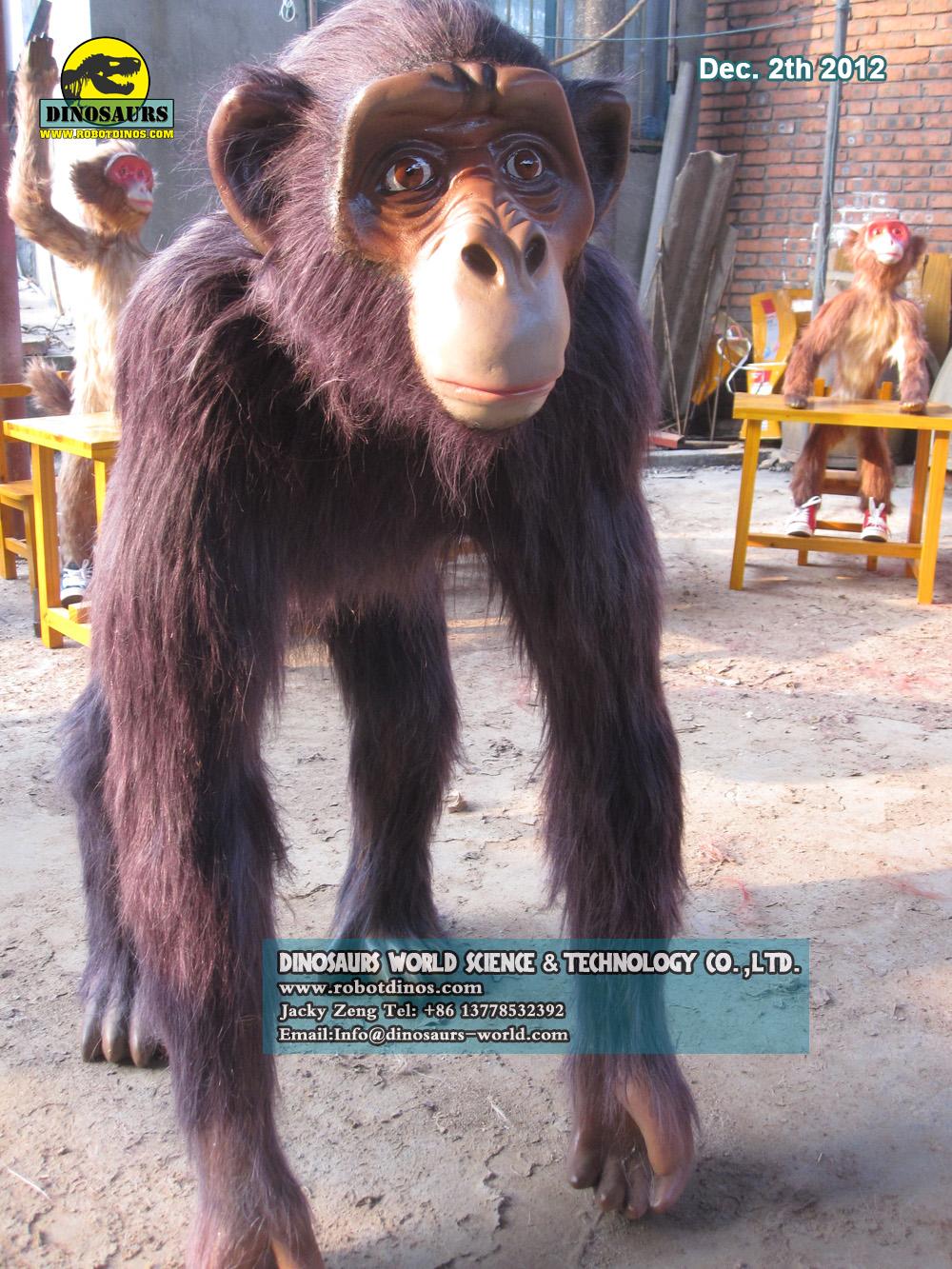 Artificial Fiberglass Chimpanzee