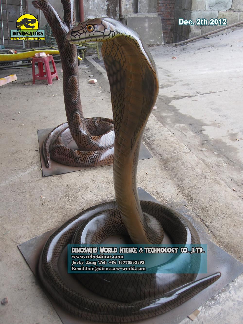 Fiberglass Life Size King Cobra
