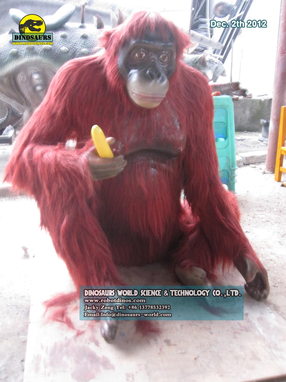 Good Quality Fiberglass Animal Orangutan
