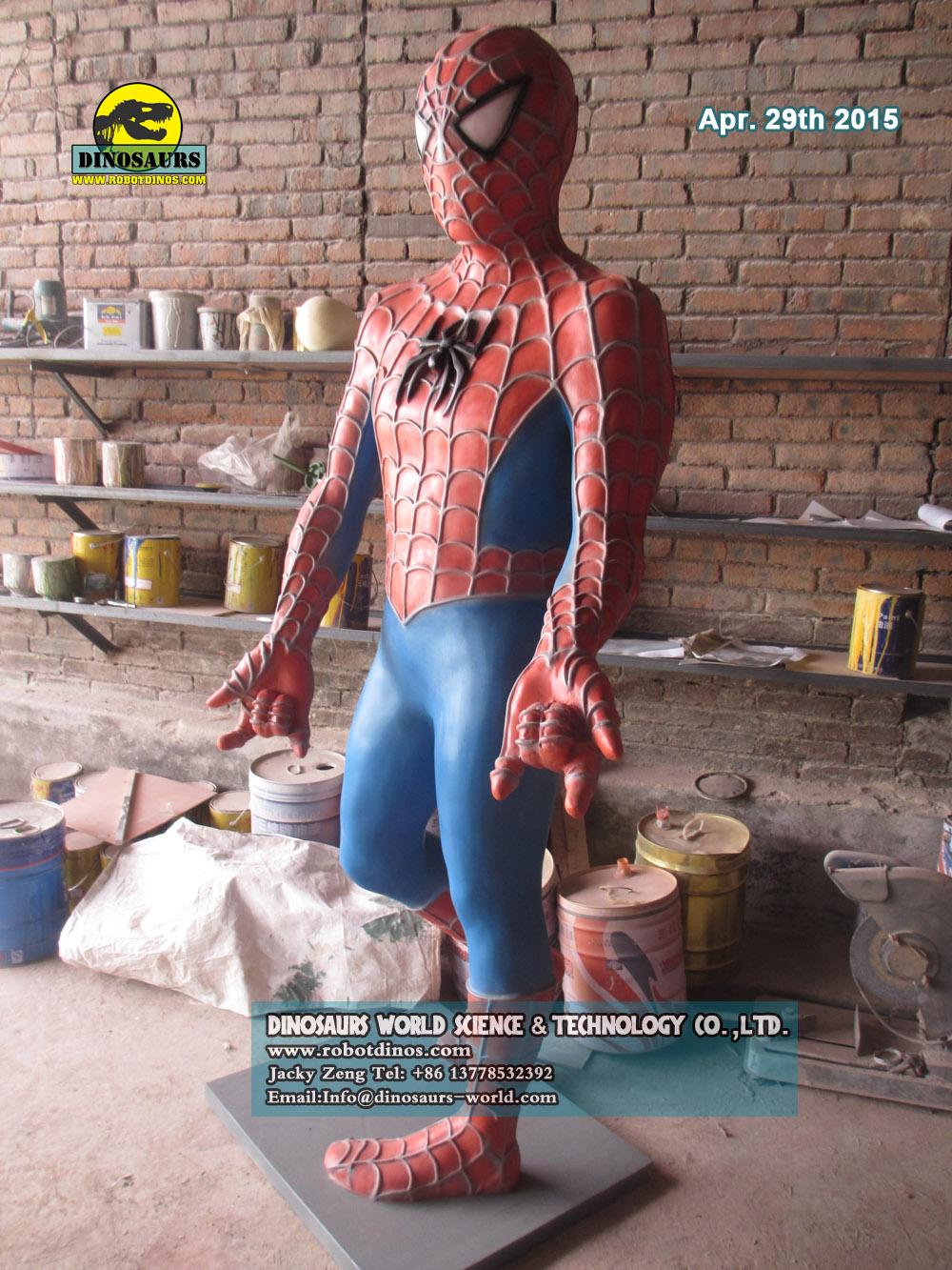 Fiberglass Cartoon Spider man