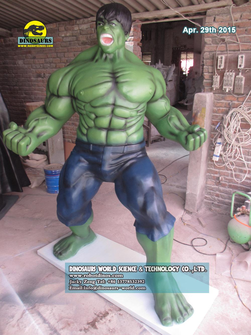 Green Hulk Statue