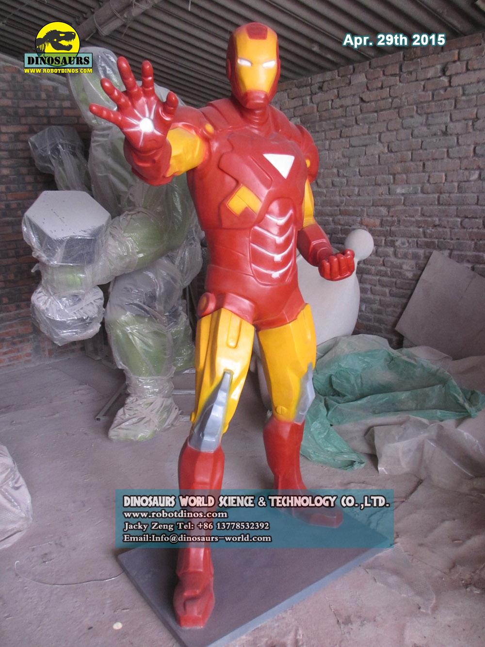 Outdoor Cartoon Characters Iron Man