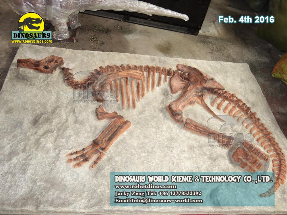 Kids dig dinosaur fossils replica