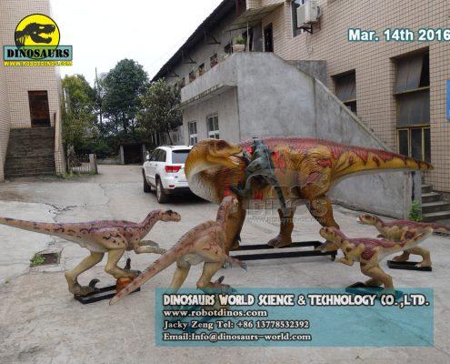 DWD5230 Iguanodon attacked by five raptors